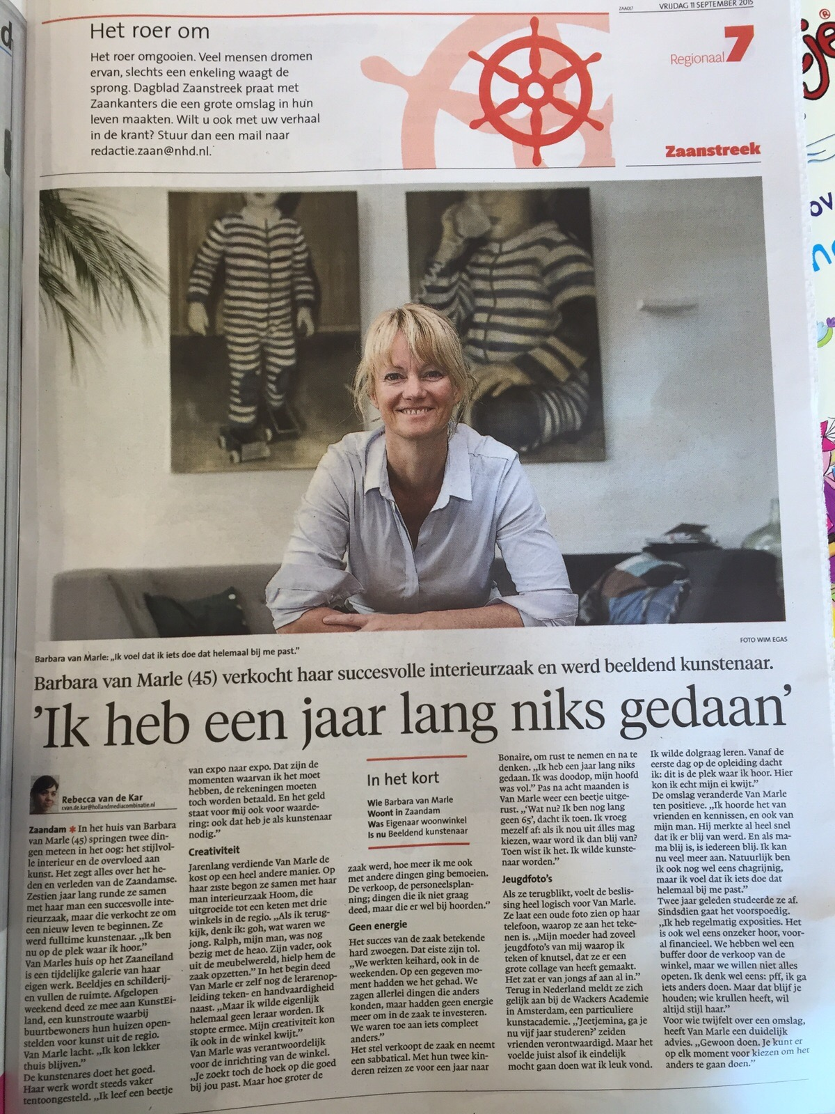 publicatie Noord Holland Dagblad