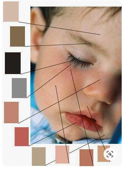 huidkleuren mengen