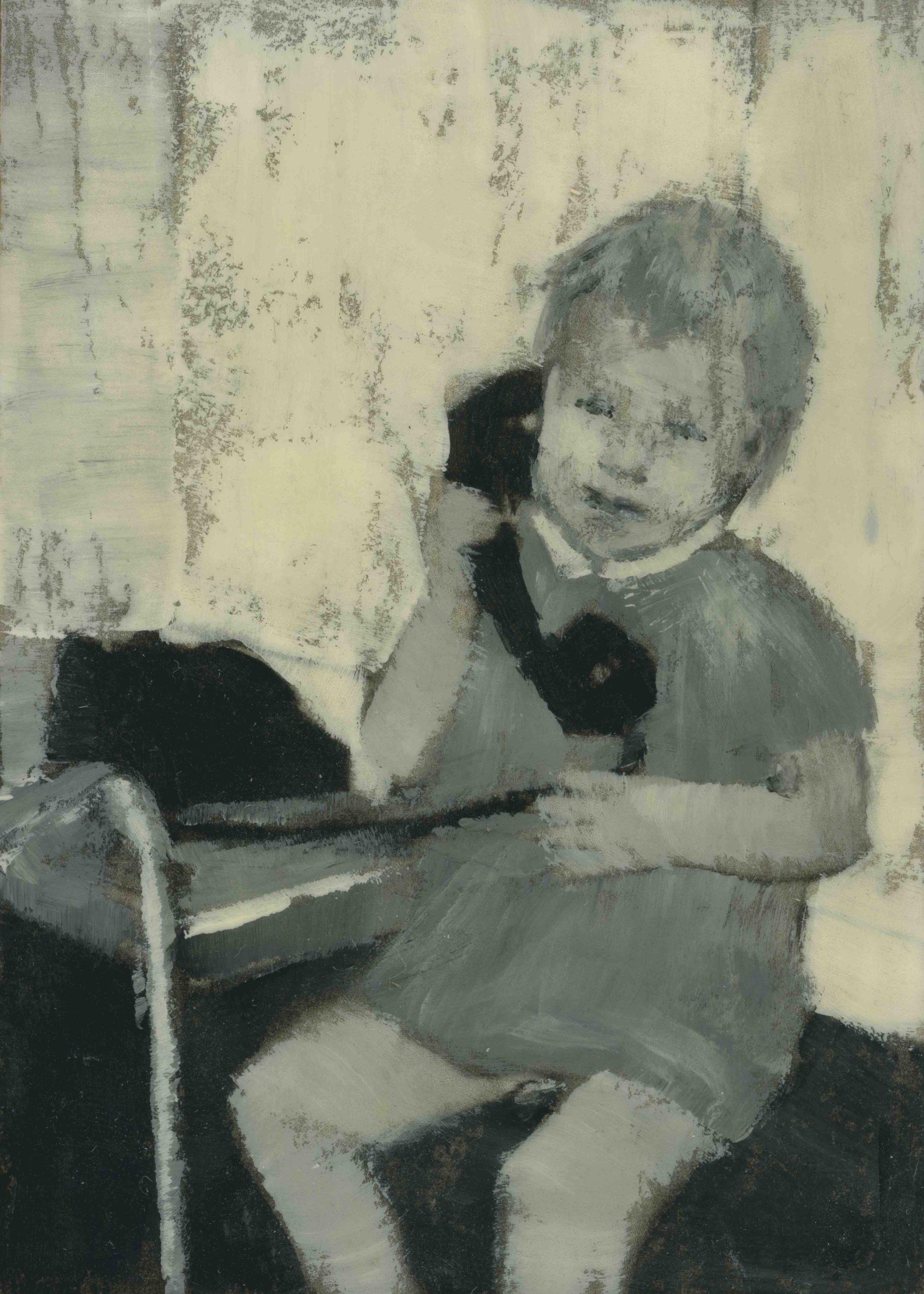 kunstwerk meisje met telefoon